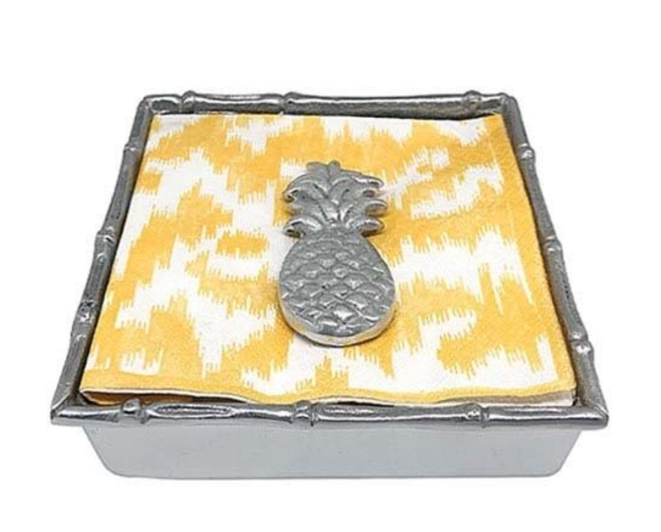 Tropical Pineapple Bamboo Napkin Box