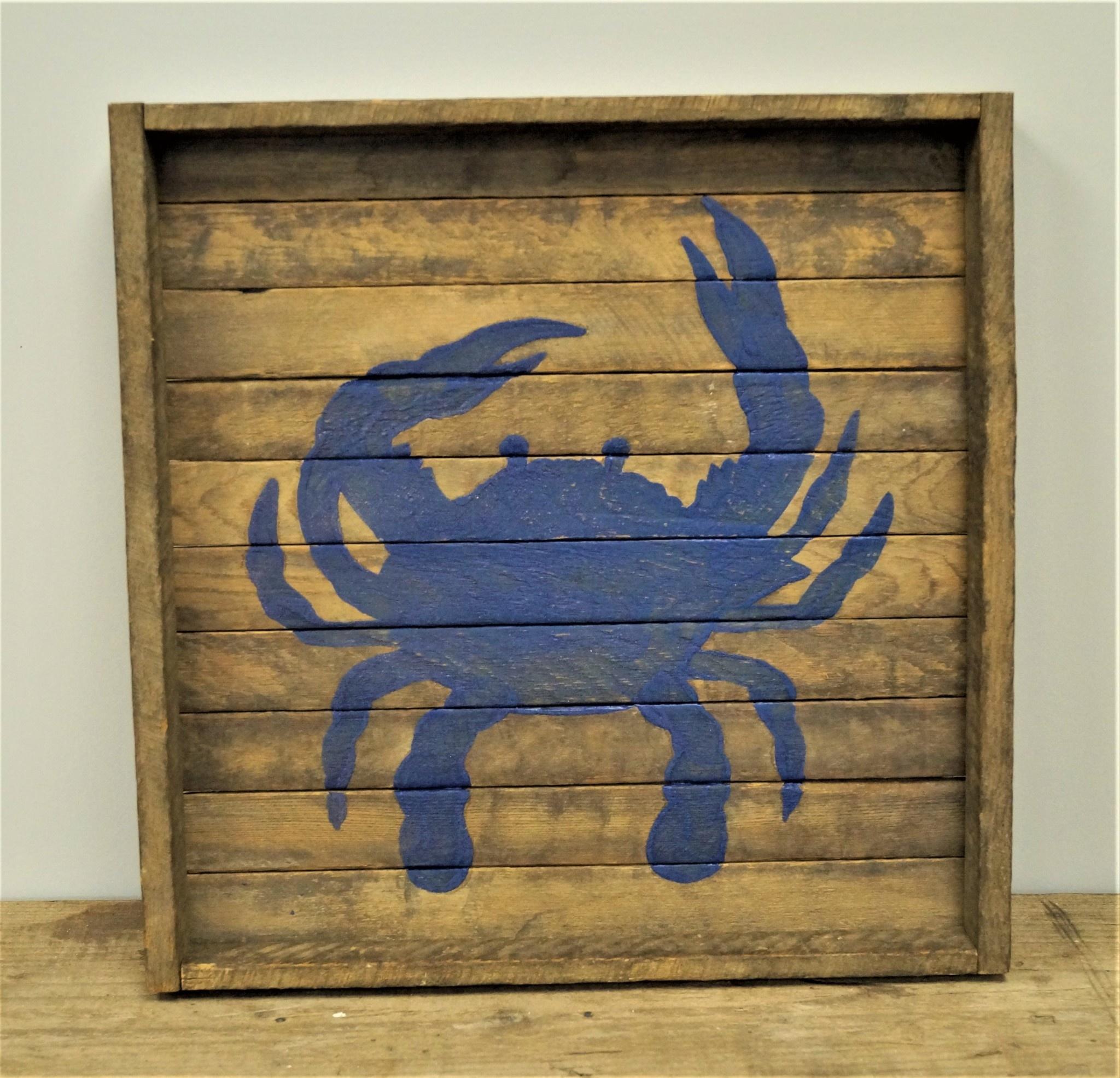 16x16 Tobacco Tray Square Crab Batik