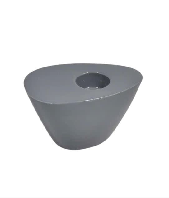 """Charcoal Wedge Candle Holder 4.5"""""""