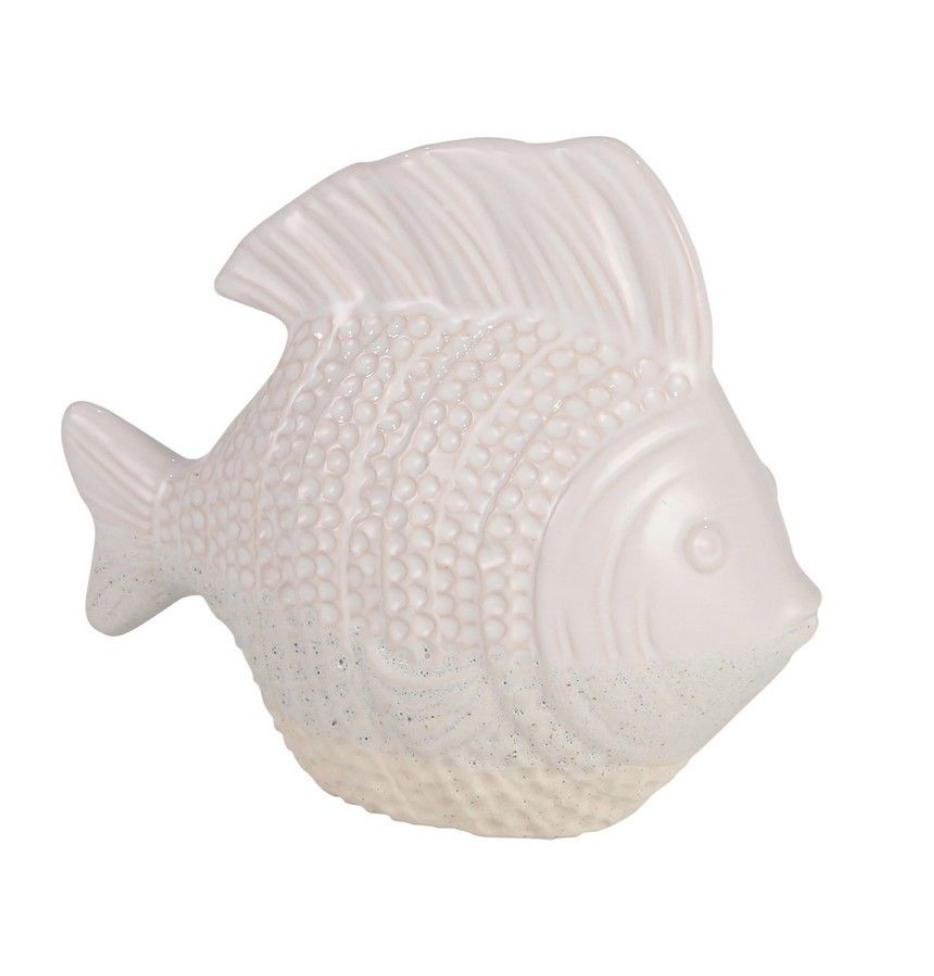 "Ceramic 9"" Fish, Ivory"