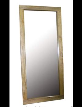 24x61 Mirror In Wooden Frame, Brown