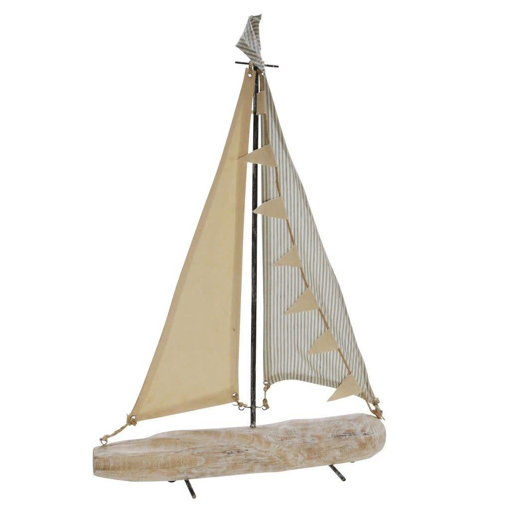 "Iron 25"" Sailboat With Cloth Sails, Multi"
