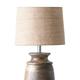 Wood Table Lamp w/ Jute Shade