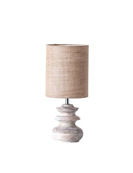 Bleached Mango Wood Table Lamp w/ Jute Shade