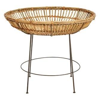 Hand Woven Arurog Table w/ Metal Legs
