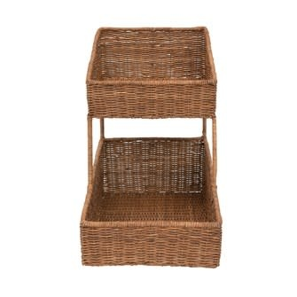 Hand-Woven Wicker Vintage Reproduction French Bakery Basket