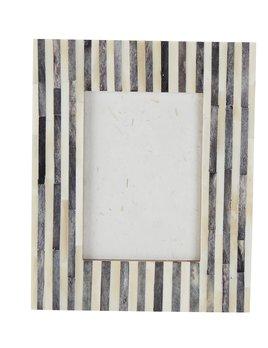 Gray Stripe Bone Frame 5x7