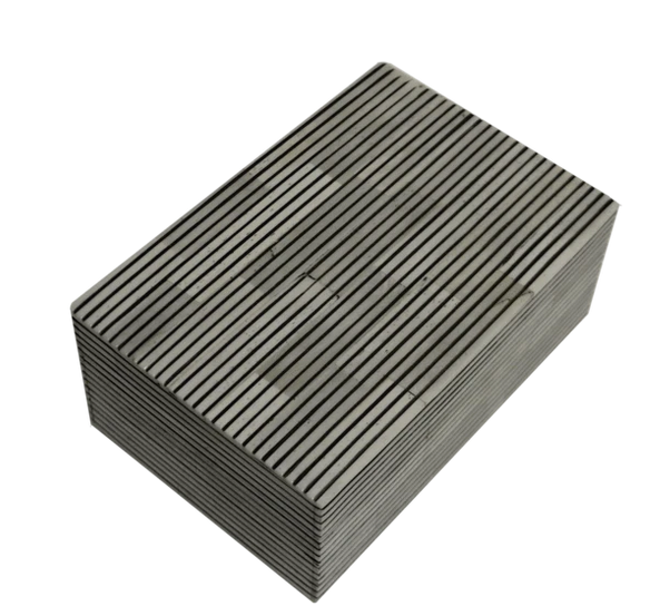 Bone Box Small Grey and White