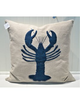 Lobster Natural Linen Porch Pillow 21x21