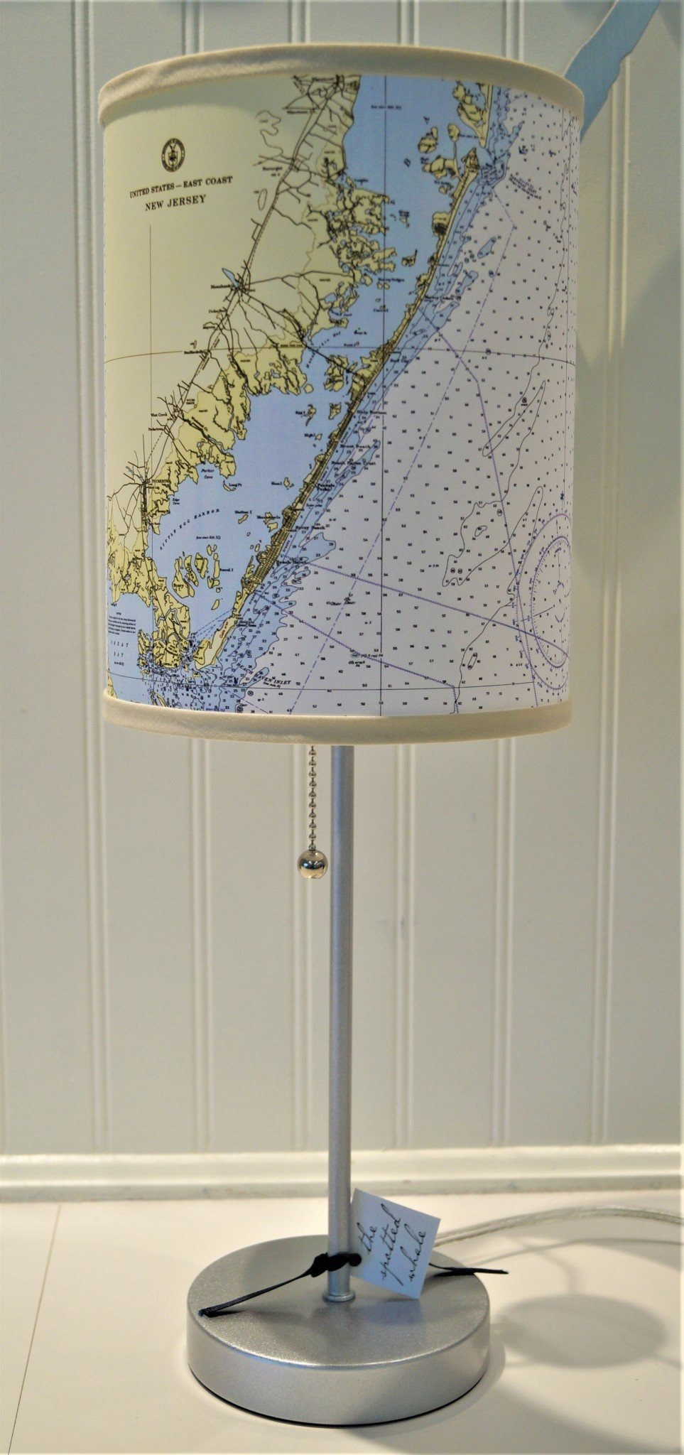 Long Beach Island Chart Map Lamp