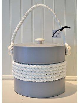 Gray 3 Qt Rope Ice Bucket