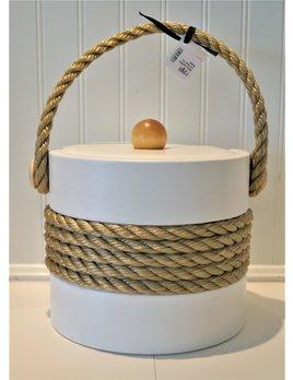 White Castillian 3 Qt Rope Ice Bucket