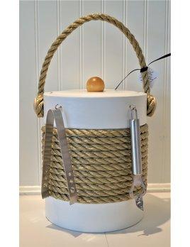 White Castillian 5 Qt Rope Ice Bucket