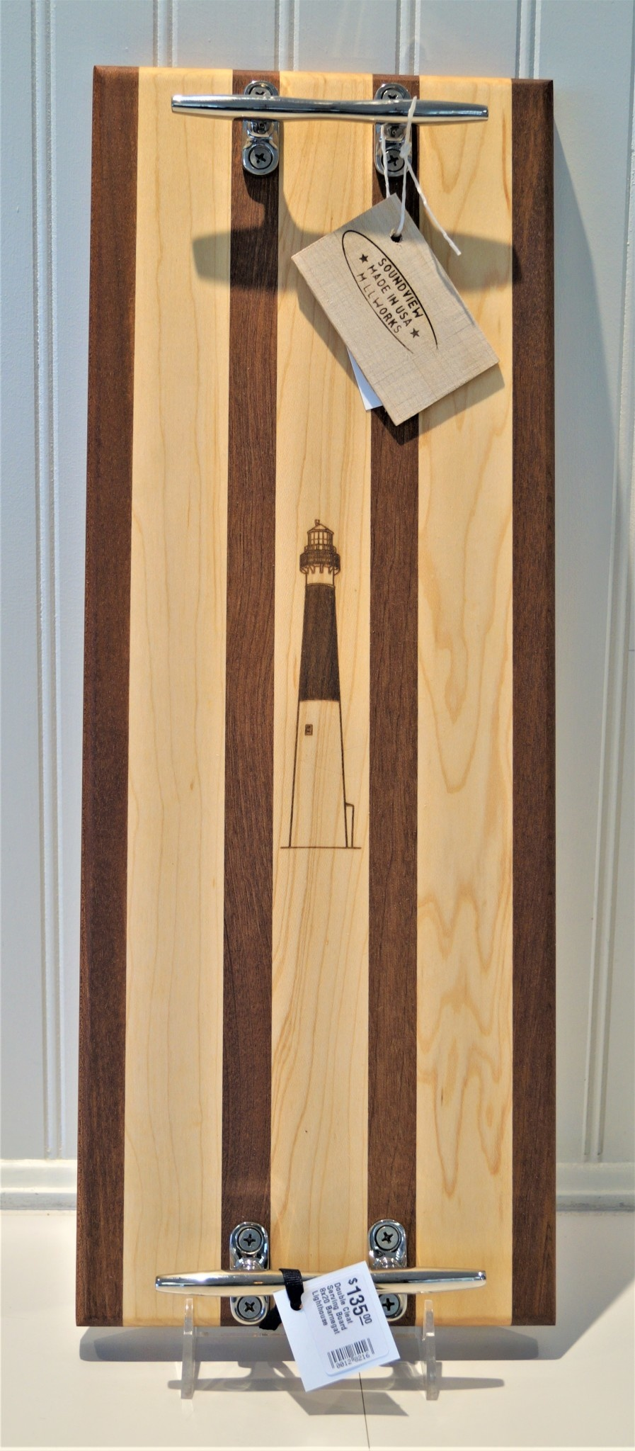Double Cleat Serving Board 8x20 Barnegat Lighthouse