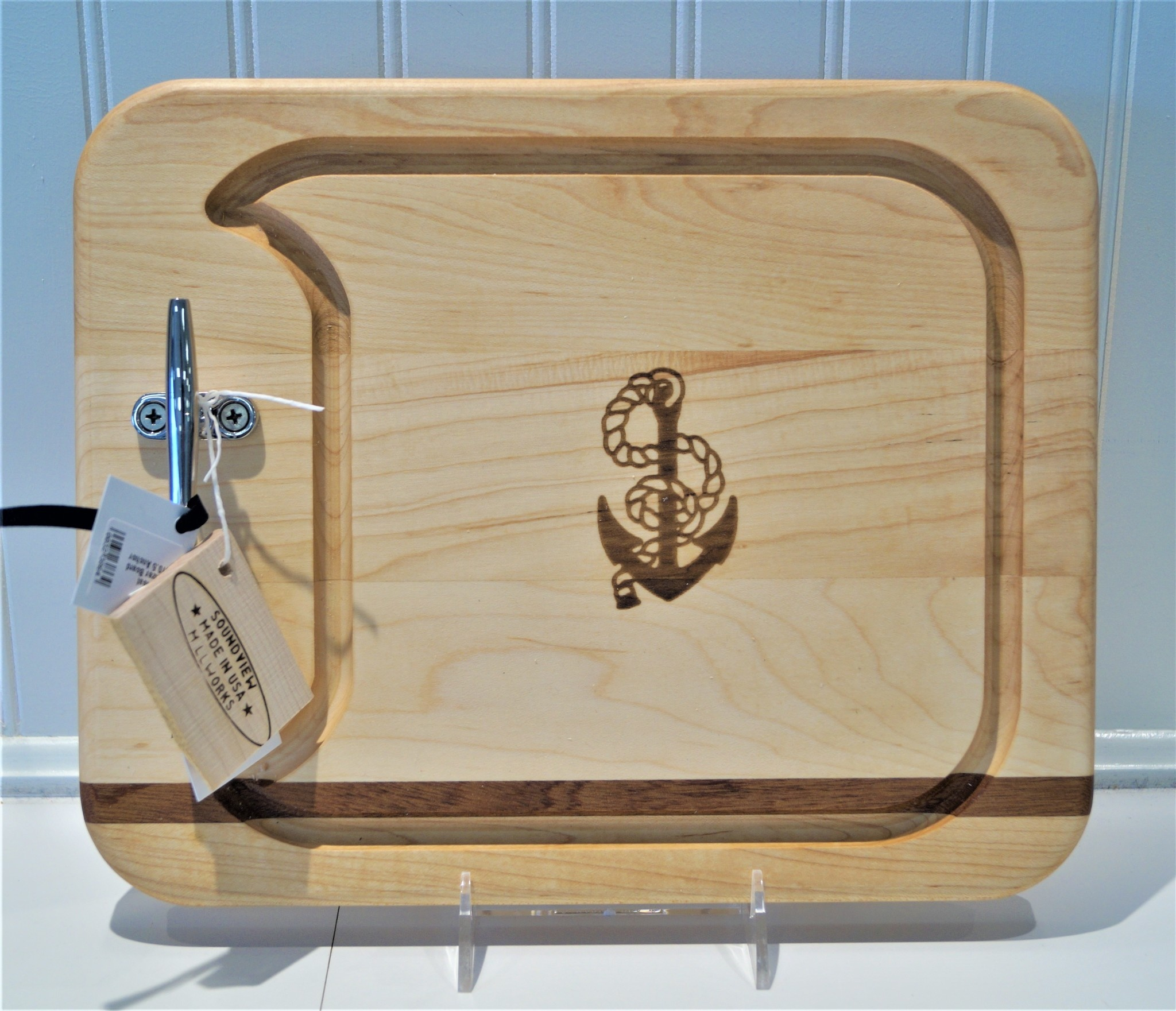 Small Cleat Appetizer Board 13x10.5 Anchor