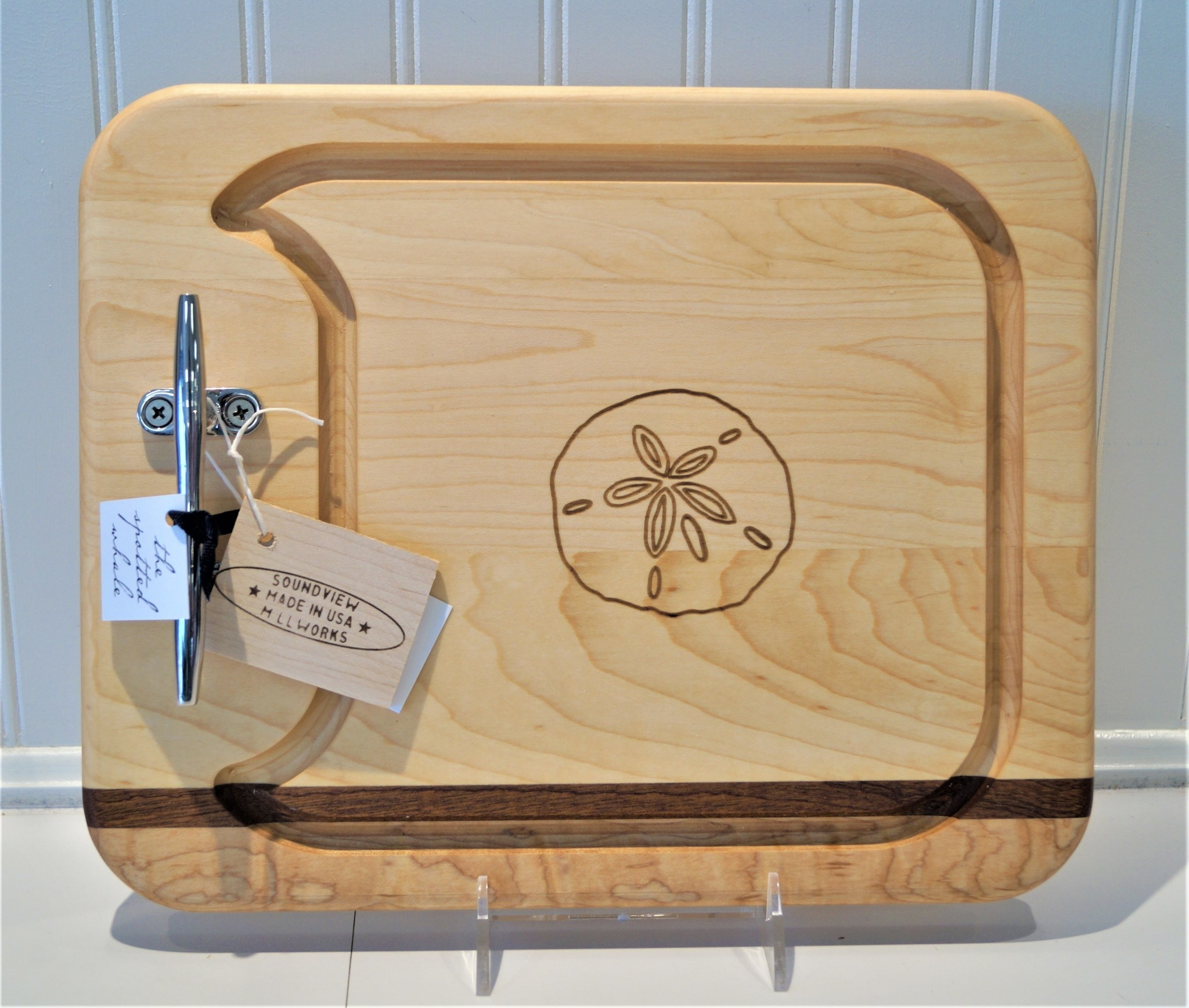 Small Cleat Appetizer Board 13x10.5 Sand Dollar