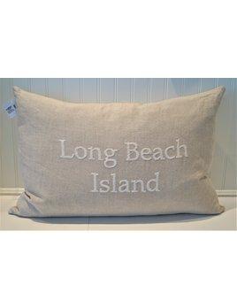 Long Beach Island Natural Pillow with Zip