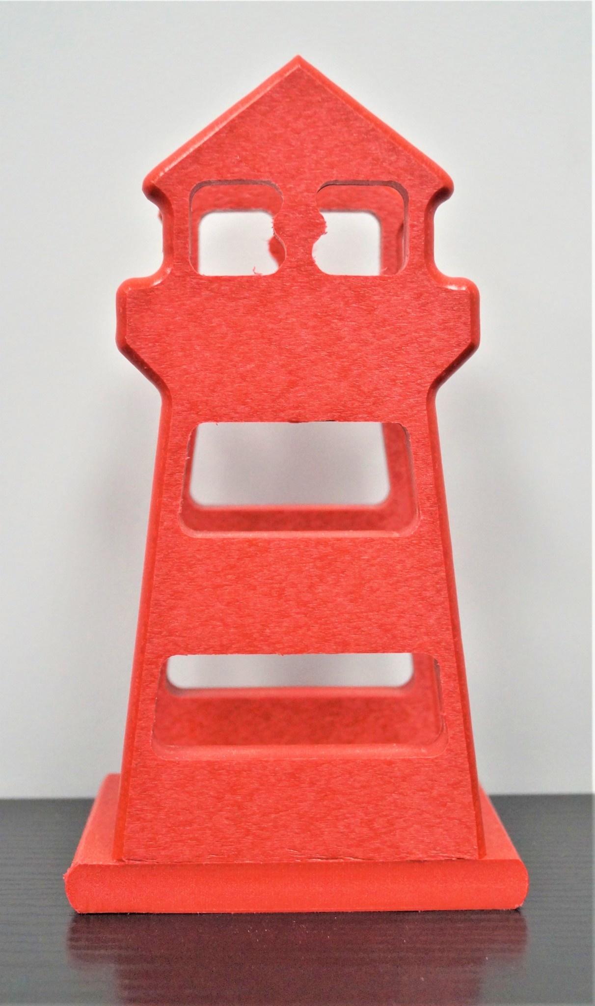 Lighthouse Napkin Holder Red