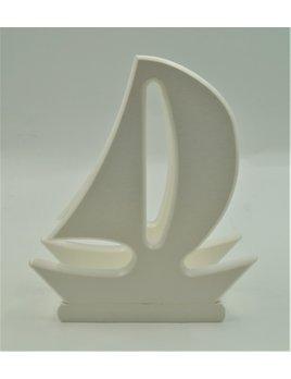Sailboat Napkin Holder White