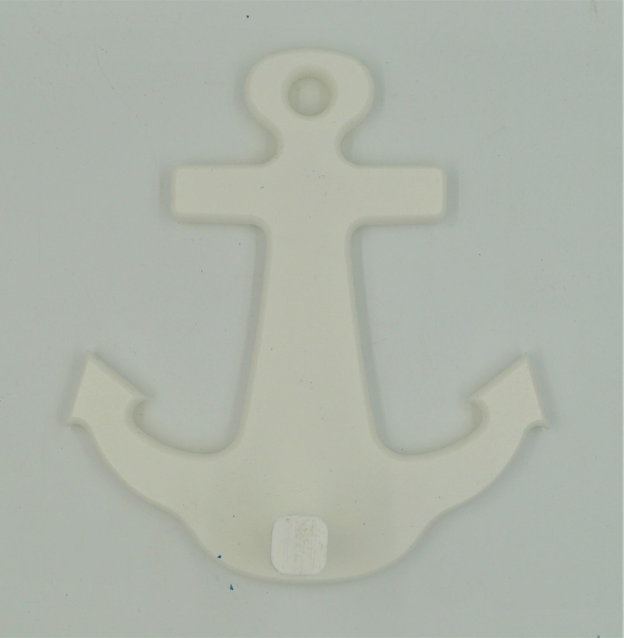 White Anchor 1  Peg Rack