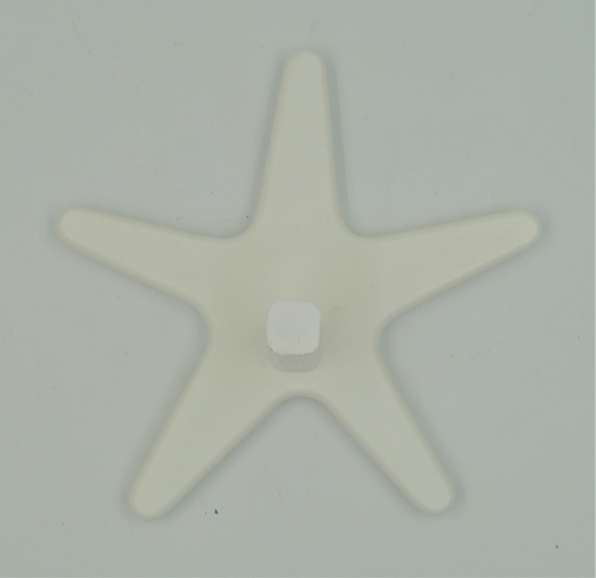 White Starfish 1 Peg Rack
