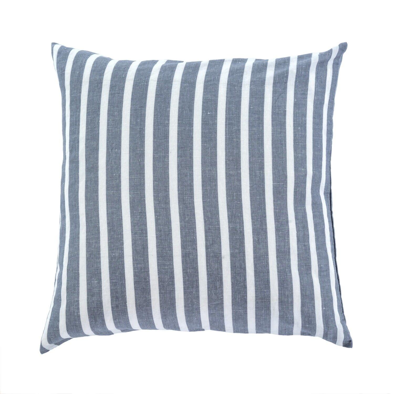20x20 Positano Pillow, Denim Grey