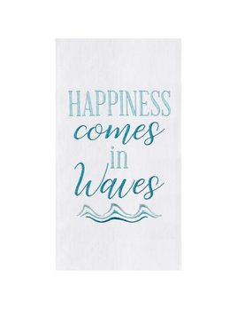 Happiness in Waves Kitchen Towel
