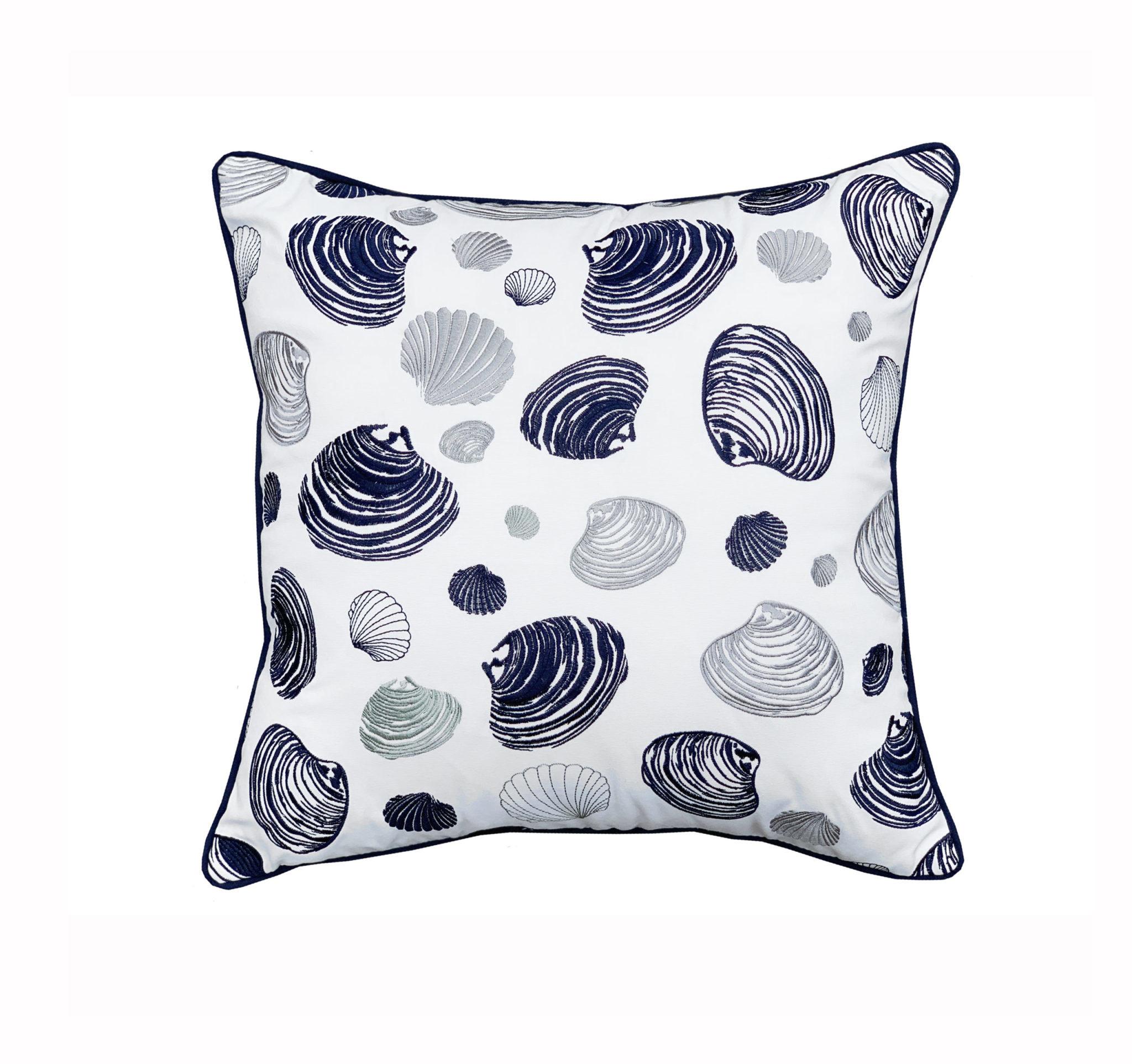 Clam Pattern Indoor/Outdoor Pillow