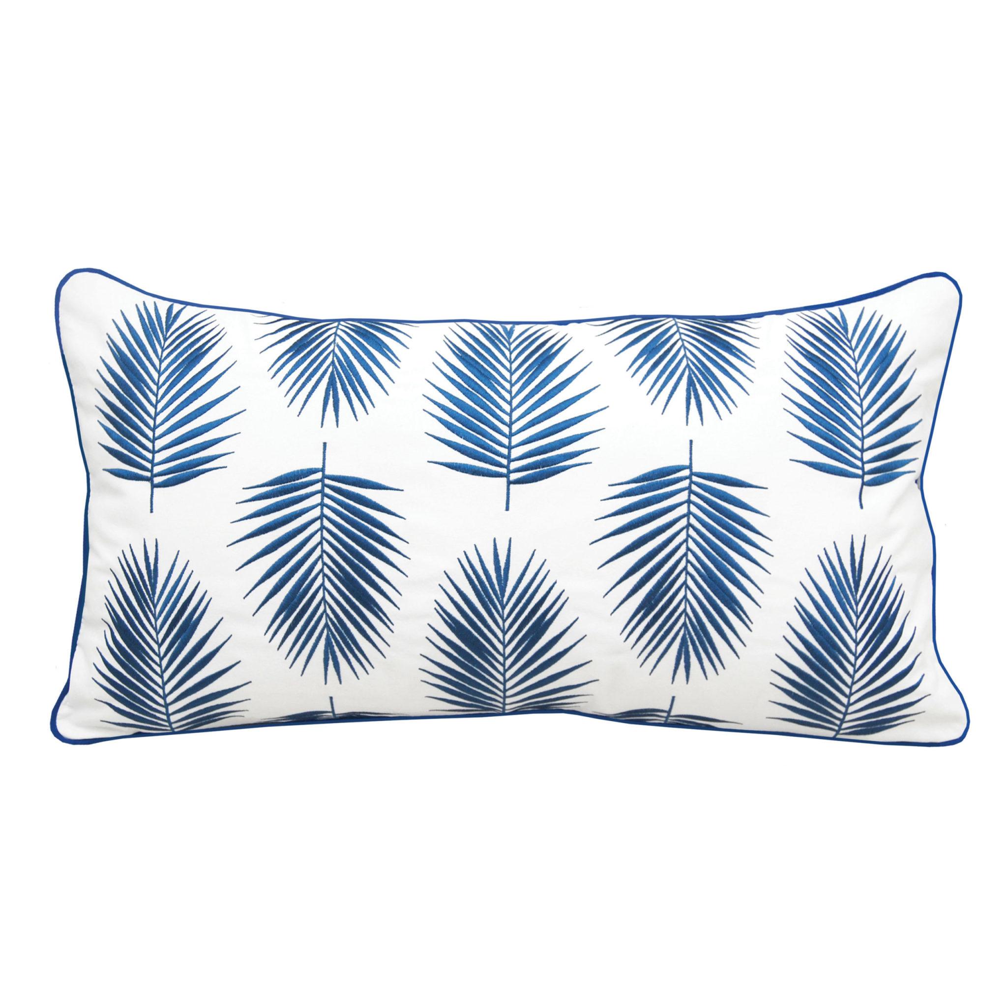 Palm Pattern Indoor/Outdoor Lumbar Pillow