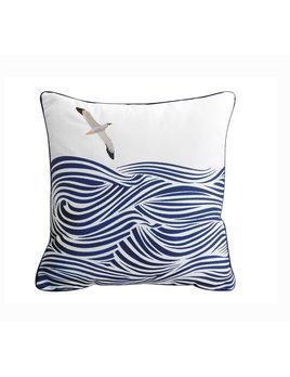 Albatross and Waves Indoor/Outdoor Pillow