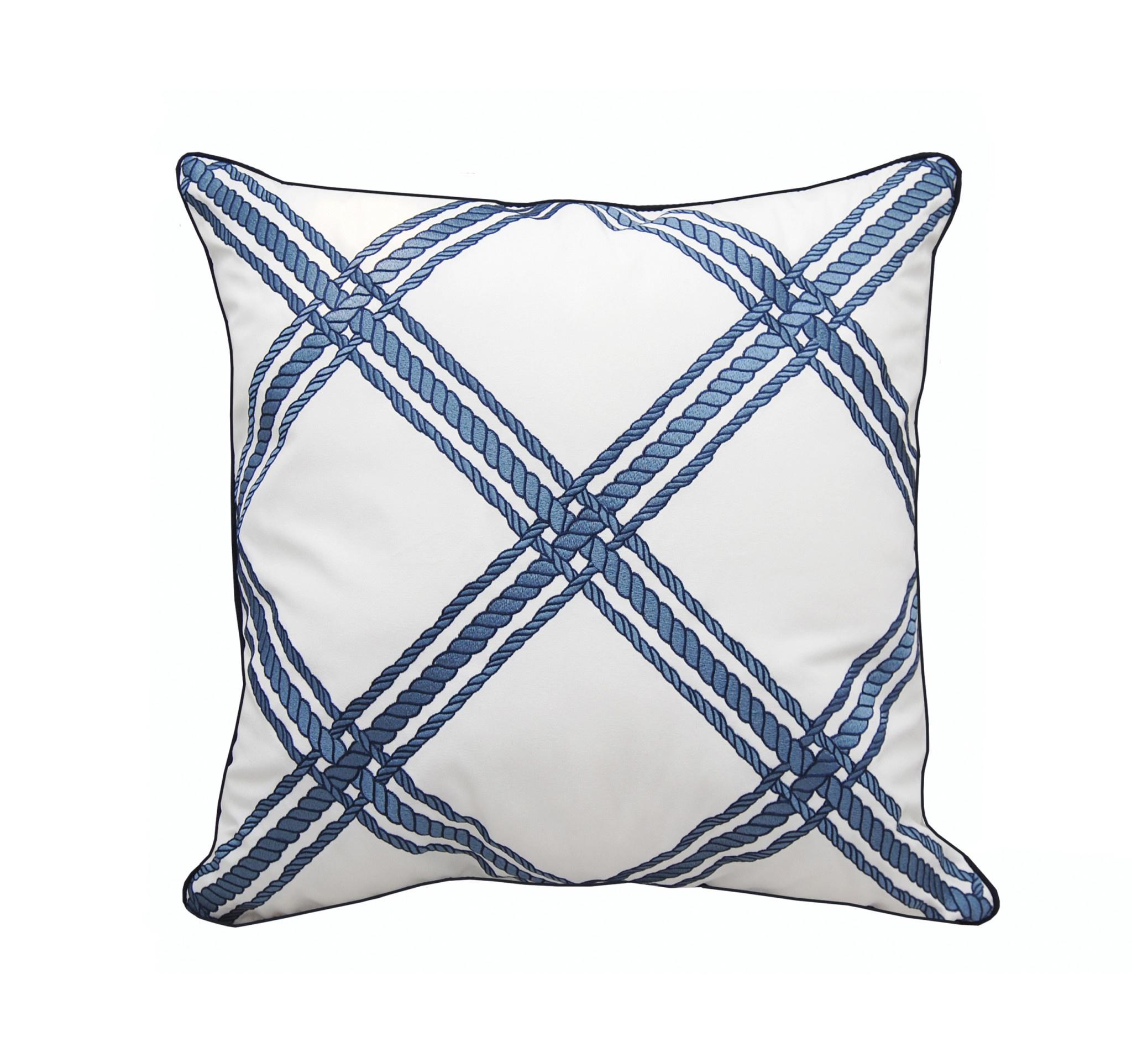 Nautical Rope Lattice Indoor/Outdoor Pillow