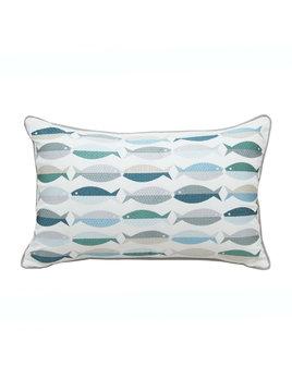 Fish Pattern Indoor/Outdoor Pillow
