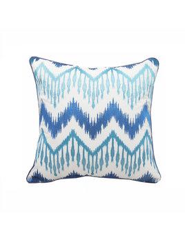 Beach House Ikat Chevron Indoor/Outdoor Pillow