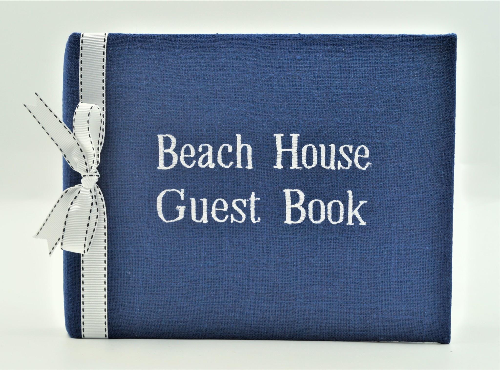 Guest Book Beach House Navy White