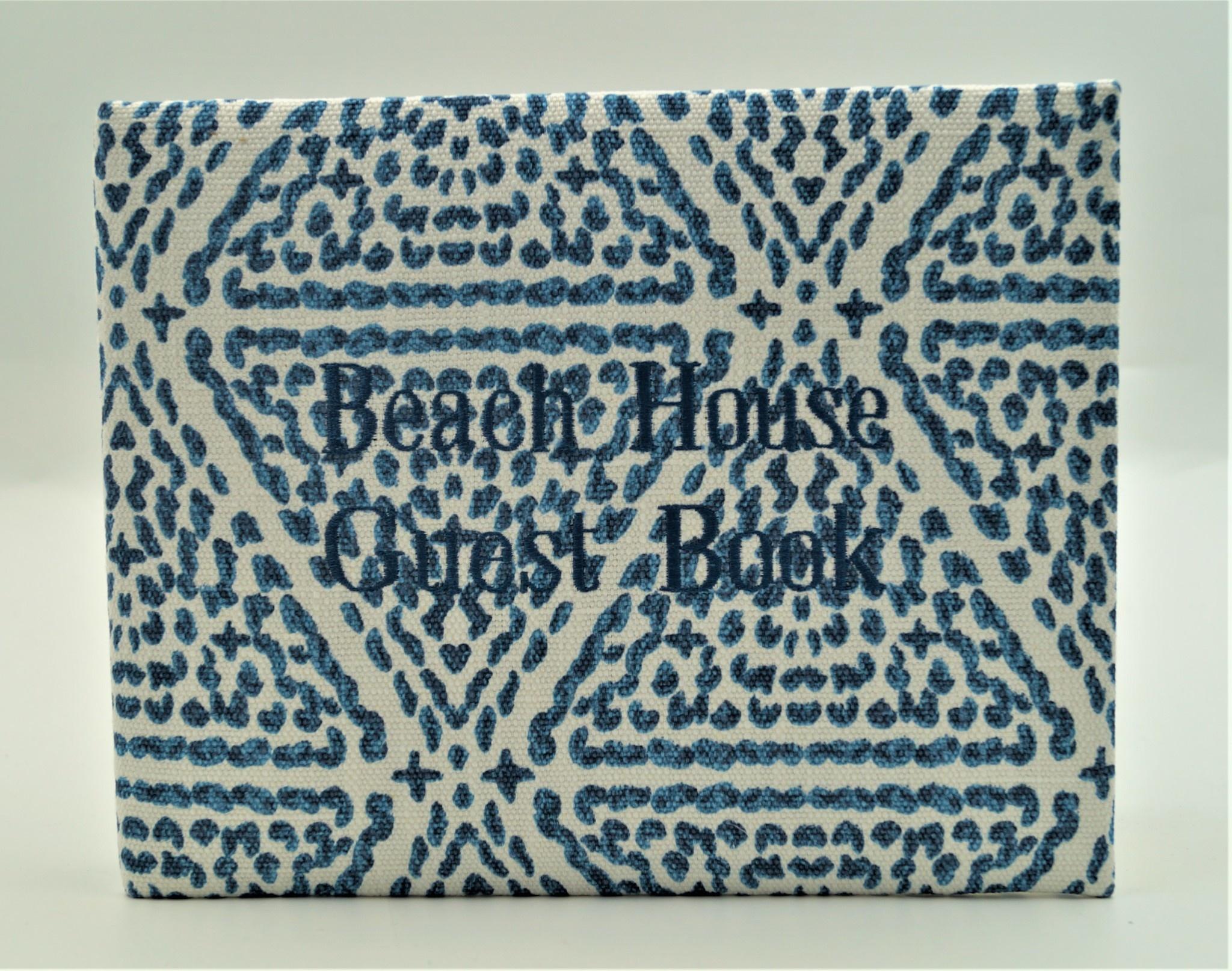 Guest Book Beach House Madrid Blue