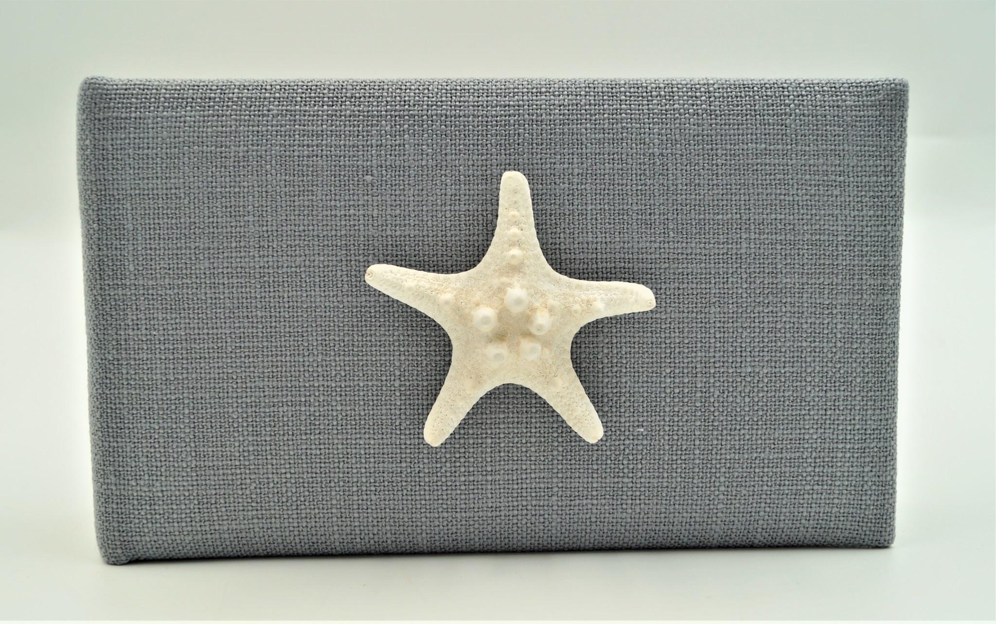 Coral Starfish Album Pewter Linen