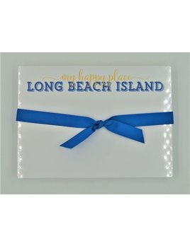 My Happy Place Long Beach Island Yellow and Royal Slab Pad