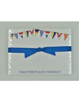 Whatever Floats Your Boat Signal Flags Slab Pad