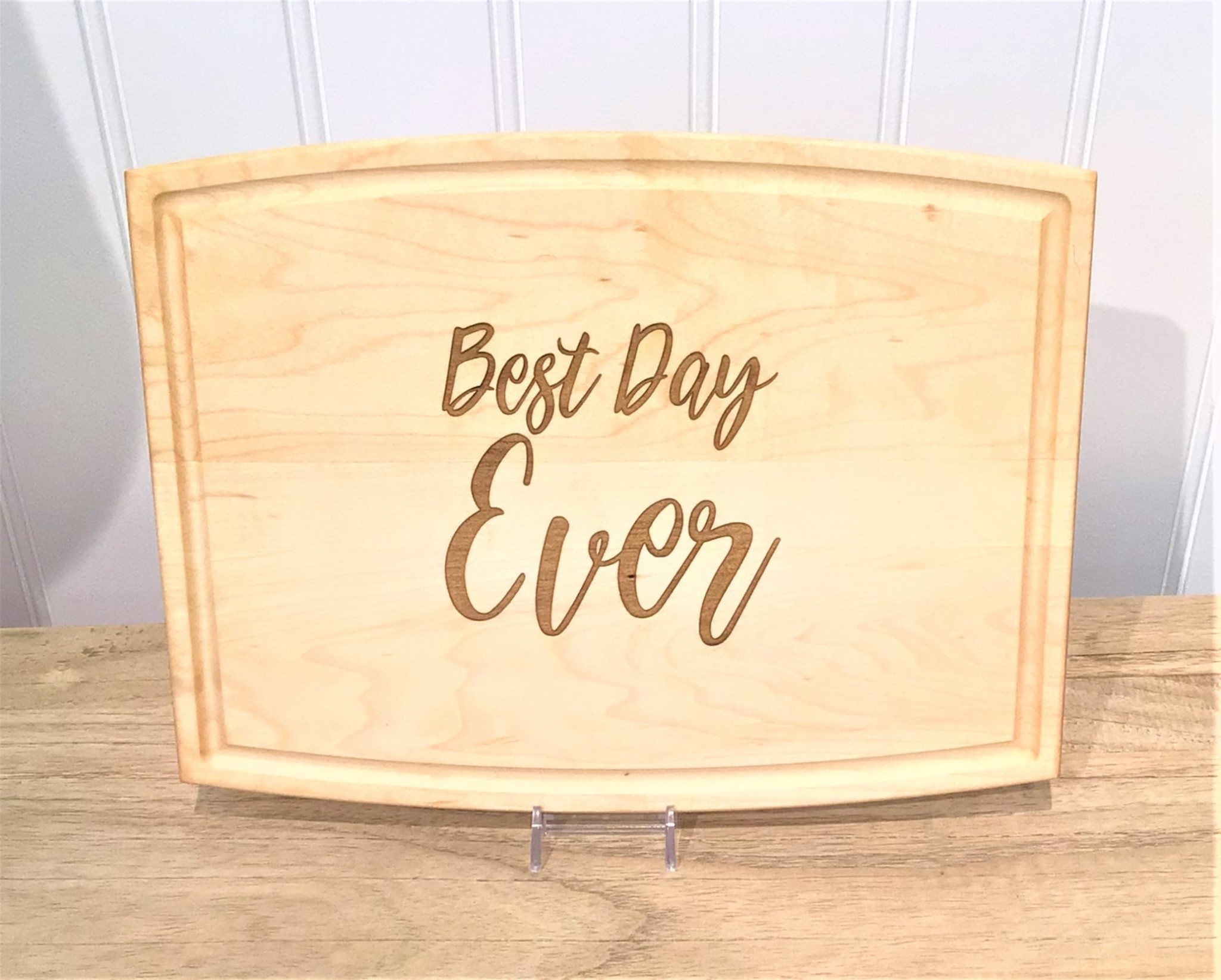"""Best Day Ever 12"""" Arched Rectangle Cutting Board"""