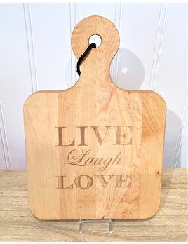 Live, Laugh, Love 12x8 Maple Artisan Board