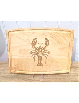 """Lobster 12"""" Arched Rectangle Cutting Board"""