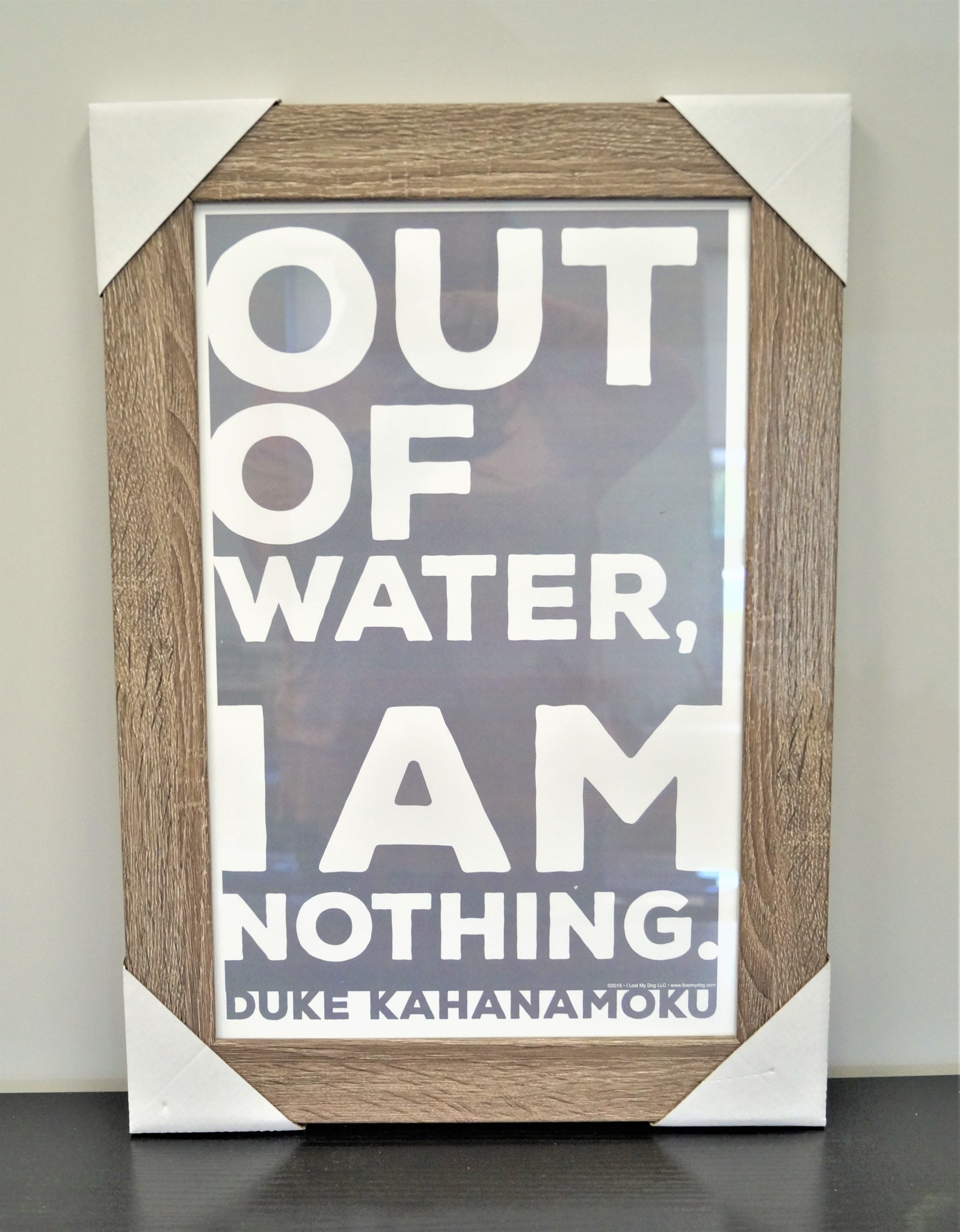 Out Of Water Grey and White 11x17 Distressed Wood Frame