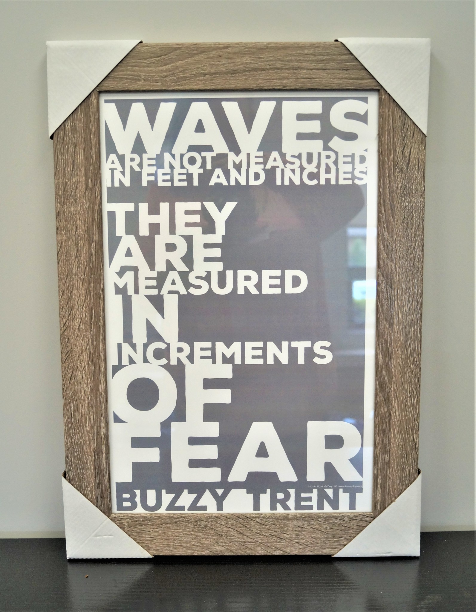 Waves are Measured Grey and White 11x17 Distressed Wood Frame
