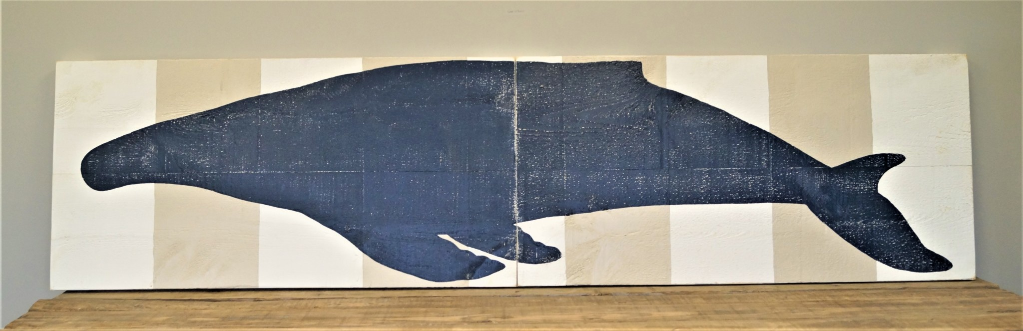 2x8 2 Panel IS Humpback Whale #4 WW/Wh Stripes
