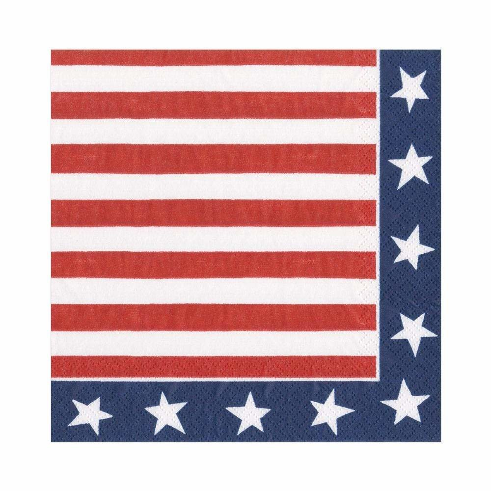 Red White and Blue Lunch Napkin