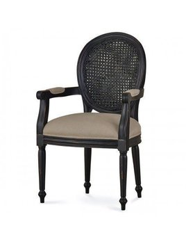 Tulip Rattan Back Dining Arm Chair without Flutted Leg