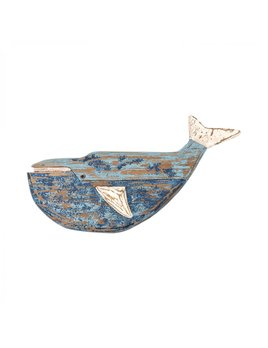 Wall Mounted Wooden Sperm Whale 55x30cm