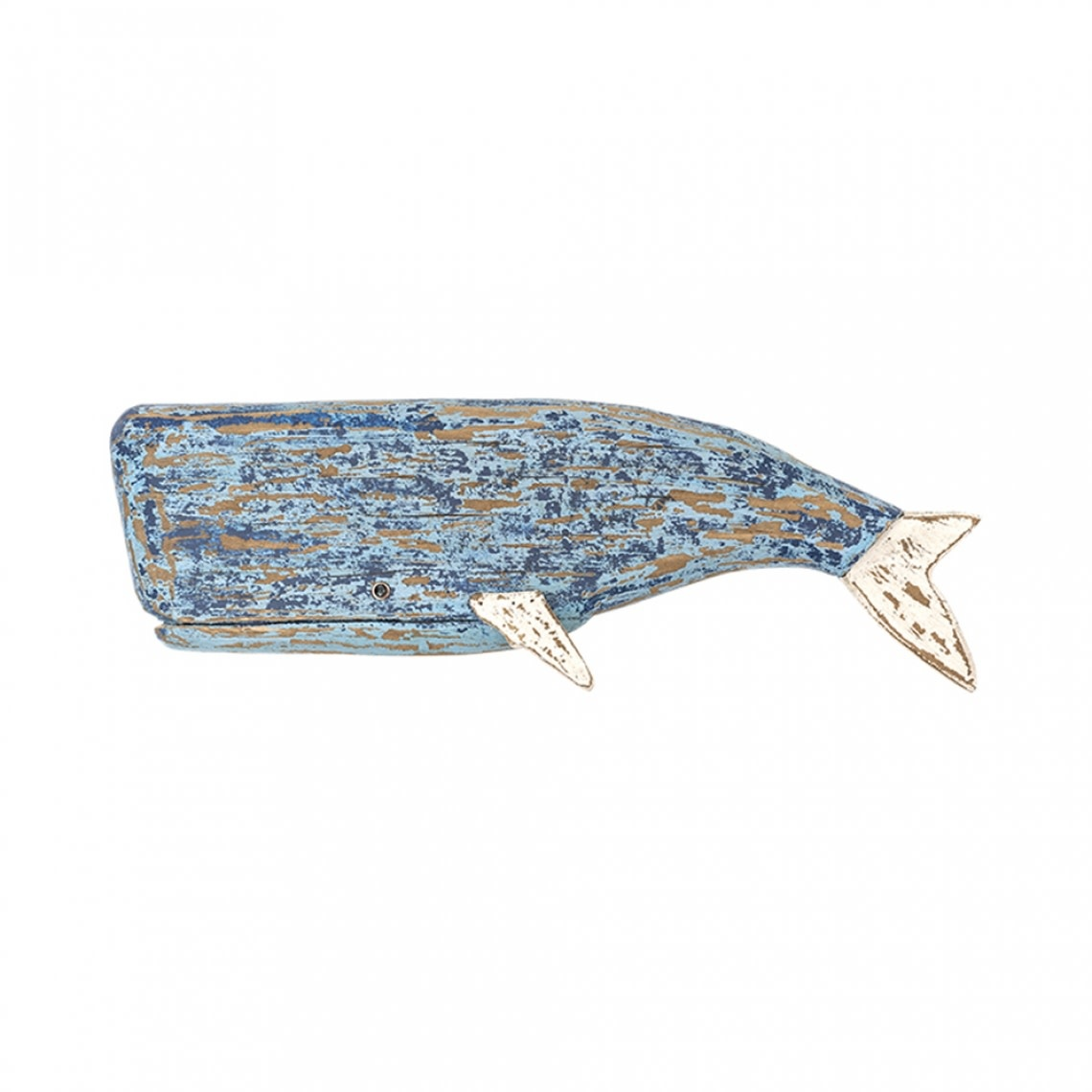 Wall Mounted Wooden Sperm Whale for Wall 58x20cm