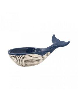Blue Ceramic Whale Bowl