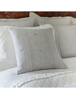 Oxford Pinstripe Linen Porch Pillow 21x21